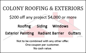 Roofing coupon - $200 off