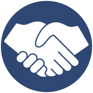 Colony Roofing - handshake icon